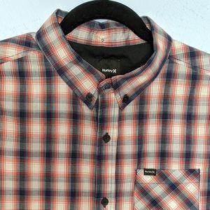 Hurley Boy's Large Button Down Shortsleeve Shirt